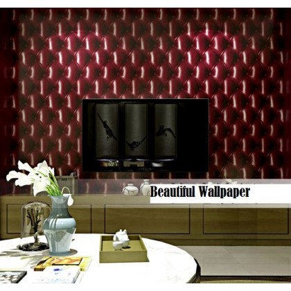 Red Colour Bedside soft pack wallpaper