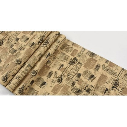 English alphabet personalized newspaper carriage wallpaper
