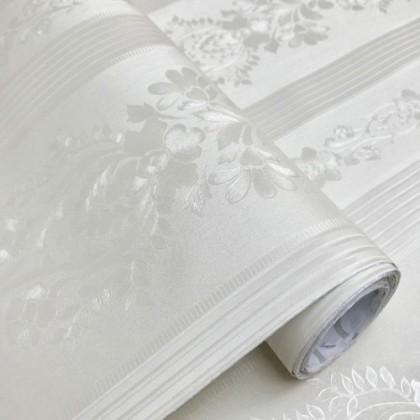 European Flowers Stripe Contact Paper PVC Waterproof Wallpaper Sticker
