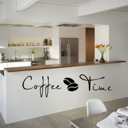 Coffee Bean Icon Restaurant Kitchen Background Wall Art Decoration Sticker