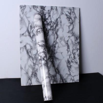 (Marble) Waterproof black marble contact paper waterproof wallpaper sticker