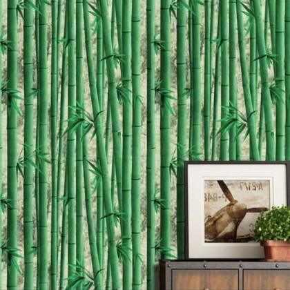 Classical simulation green bamboo wallpaper