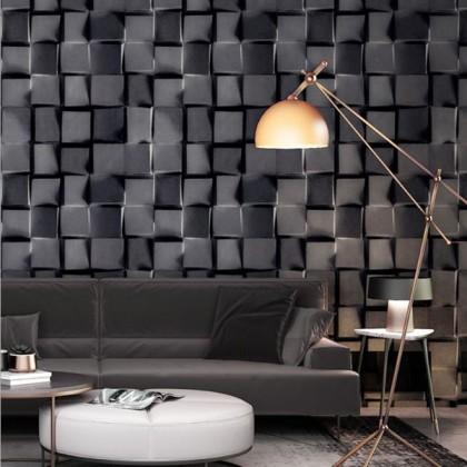 Black and white plaid square wallpaper