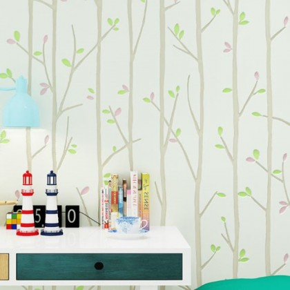Twigs pastoral non-woven wallpaper