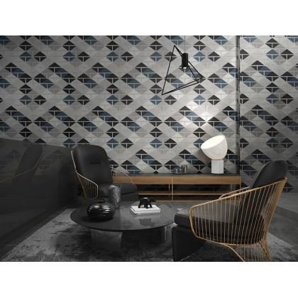Simulation tile diamond brick wallpaper