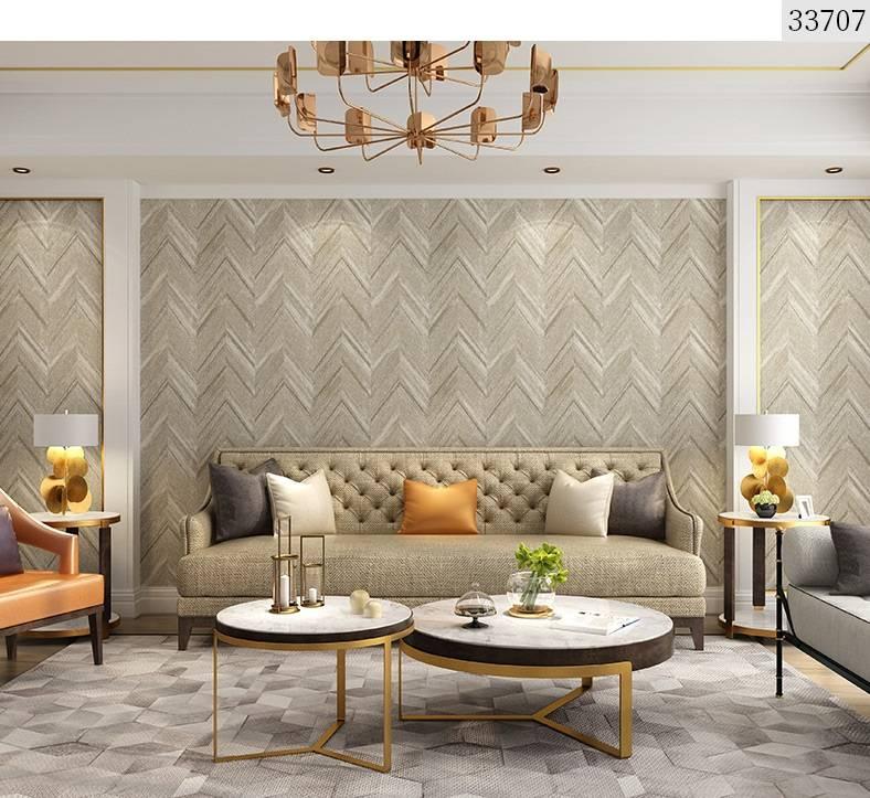 Modern minimalist non-woven grey wood grain wallpaper ...