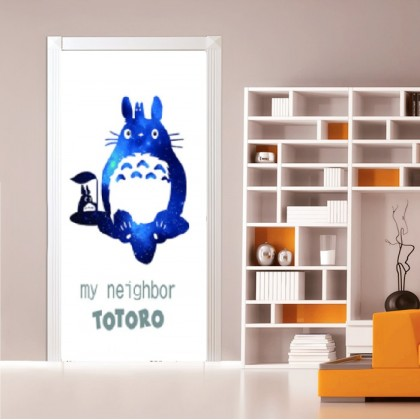 [90cm x 200cm] Cute Bear Bear Door Sticker 3D Photo Wallpaper Airbnb Door Mural Living Room Bedroom Creative DIY Door Sticker Home Decoration