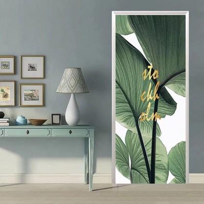 [90cm x 200cm] Beautiful Feng Shui Painting Sticker 3D Photo Wallpaper Airbnb Door Mural Living Room Bedroom Creative DIY Door Sticker Home Decoration
