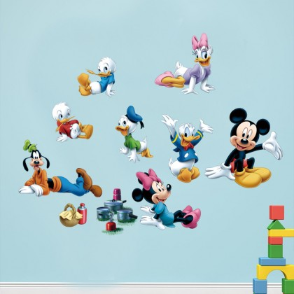 Cute Mickey living favorite day care room sticker home deco wall stickers