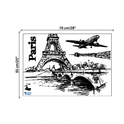 Eiffel Tower Paris living favorite day care room sticker home deco wall stickers