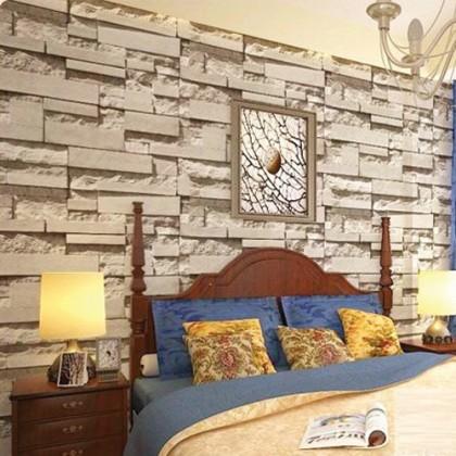 3D Bricks Modern Vintage Wallcovering for Shop and Home Decoration Wallpaper
