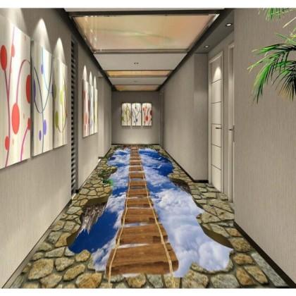 3D Custom Flooring Sticker Floor Mural Painting Wallpaper PVC waterproof Stickers