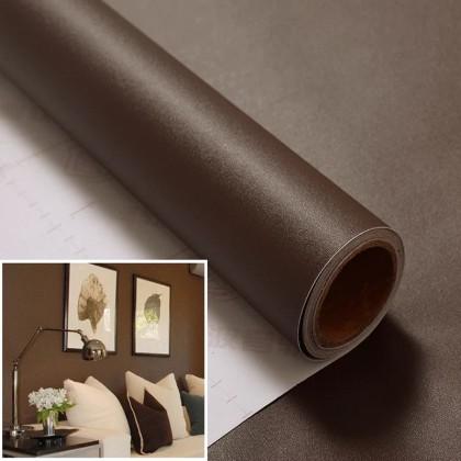 (Plain) Matte Dark Brown PVC Contact Paper Wallpaper Sticker