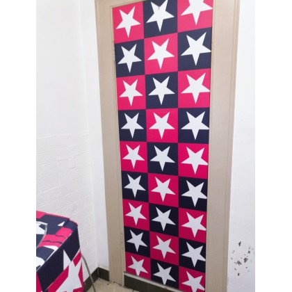 Star Red Blue PVC Contact Paper Wallpaper Stickers