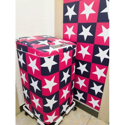 (Grid) Star Red Blue PVC Contact Paper Wallpaper Stickers