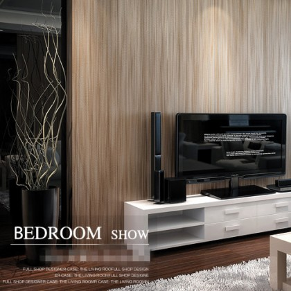 3D Brown Textured Wallpaper Non-Adhesive Wallcovering Home Decoration