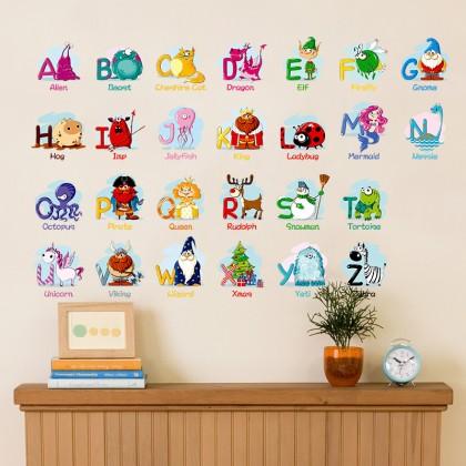 ABC education wall sticker children's room kindergarten bedroom living room background decorative stickers