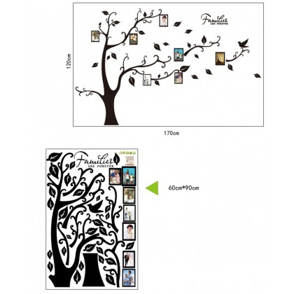 Tree with photo frame sticker family room kindergarten bedroom living room background decorative stickers