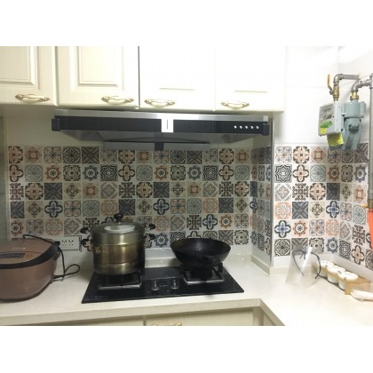 (Tiles) New Design Moroccan Thick self-adhesive cooktop waterproof kitchen oil-proof cabinet cooktop sticker with high temperature resistant  wall sticker cabinet sticker matte
