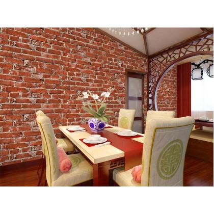 3D Perspective Antique Brick Shop and Home Decoration Wallpaper