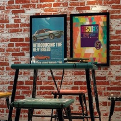 3D Convex Bricks Vintage Wallcovering for Shop, Cafe and Home Decoration Wallpaper