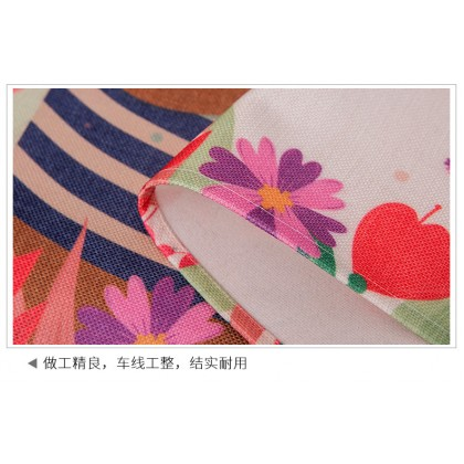 Cute vintage floral style washer cover cloth waterproof sunscreen dustproof cover refrigerator cotton linen (Size: 45cm x 140cm)