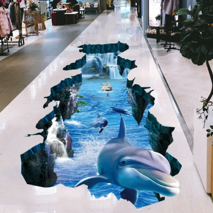 Dolphin Wall Art Decoration Removable Stickers