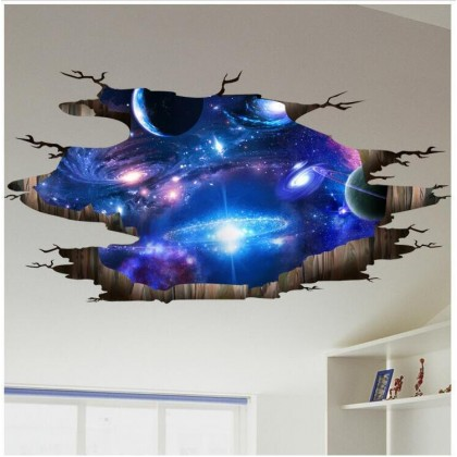 Galaxy Planet Wall Art Decoration Removable Stickers