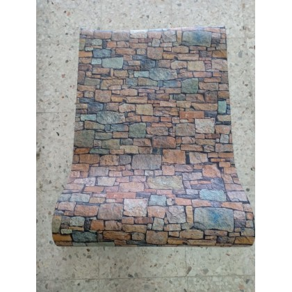 Modern Style Brick Texture Contact Paper PVC Waterproof Removable Wallpaper Sticker
