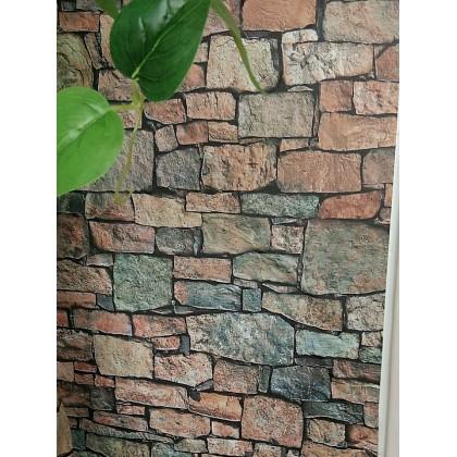 (Brick) Modern Style Brick Texture Contact Paper PVC Waterproof Removable Wallpaper Sticker