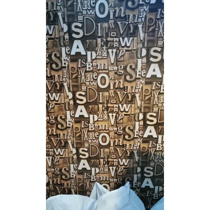 Vintage English Alphabet Background Contact Paper PVC Waterproof Removable Wallpaper Sticker