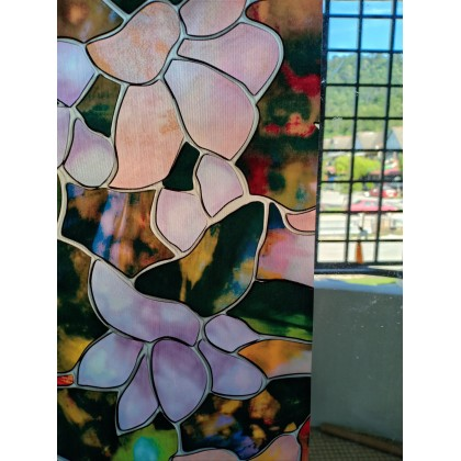 Colorful Floral Background 3D Window Privacy Tinted Glass Window Film Sticker