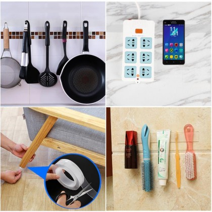 Reusable Double-Sided Adhesive Nano Traceless Tape Removable Sticker Washable Adhesive Loop Disks Tie Glue Gadget