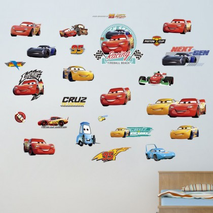 The cars character wall art decoration sticker