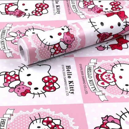 New Arrival Hello Kitty Wallpaper Wall stickers Covering