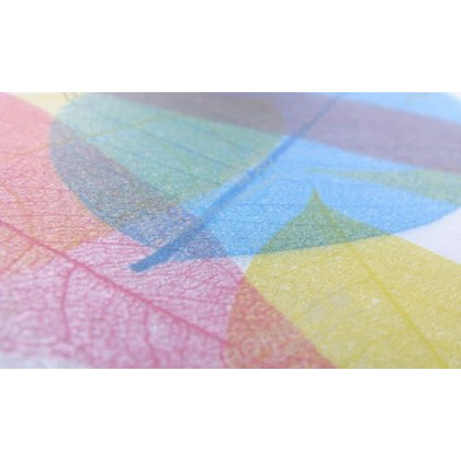 Colorful Leaves DIY Privacy Glass Window Tinted Cloud Background Window Film Tint kaca