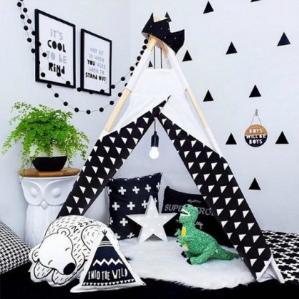 Triangle Black PVC waterproof self-adhesive wall paper bedroom dining room TV background wall living room wall stickers