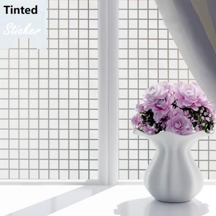 Lattice Grid Window Shading Film Tinted for Home Stickers- width :90cm X 100cm