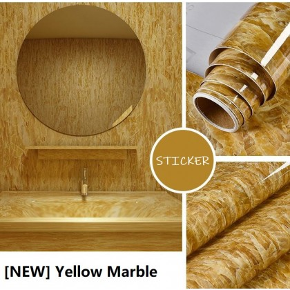 (Marble) Marble Environmental protection Contact Paper European style 3D thickened waterproof self-adhesive wall paper bedroom dining room wall or tiles stickers