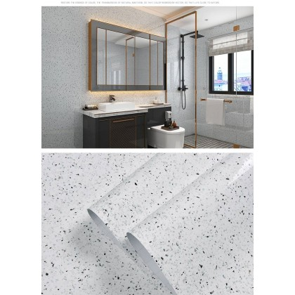 (Marble) Kitchen anti-oil self-adhesive Contact Paper decorative sticker bathroom tile counter waterproof background marble wallpaper granite TV background wall living room wall stickers