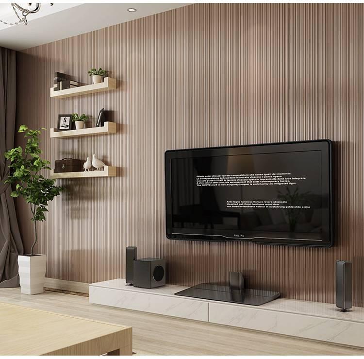 Simple Plain Wallpaper Style Bedroom Living Room Dining Room Background Wall Wallpaper Coffee Dark Brown Texture