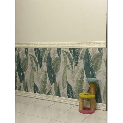 Tropical Green Leaves Background Furniture Refurbished Contact Paper PVC Self-Adhesive Waterproof Wallpaper
