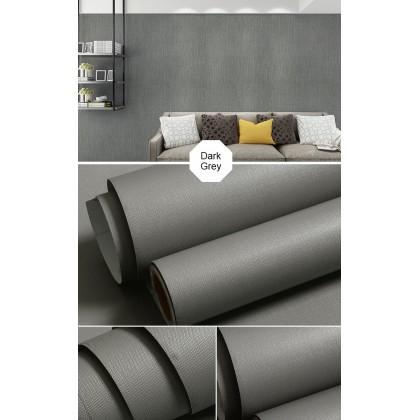 (Plain) Dark Grey Background Furniture Refurbished Contact Paper PVC Self-Adhesive Waterproof Wallpaper Sticker [ Size: 60cm x 100cm]