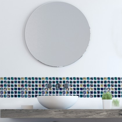 (Tiles) EUROPEAN STYLE KITCHEN SIMULATION TILES MOROCCAN CERAMIC WATERPROOF DIY HOME DECORATIVE WALL STICKER