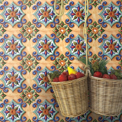 (Tiles) EUROPEAN STYLE KITCHEN TILES MOROCCAN CERAMIC WATERPROOF DIY HOME DECORATIVE WALL STICKERS DECO