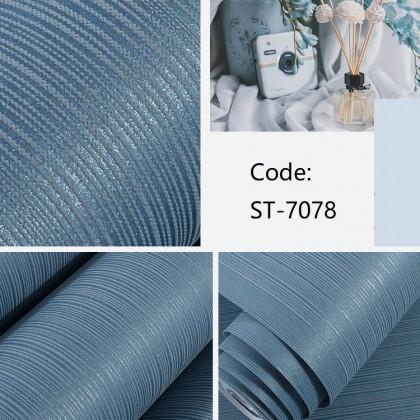 Plain Blue Stripe Background Interior Fashion Design Home Decoration Non-Woven Wallpaper
