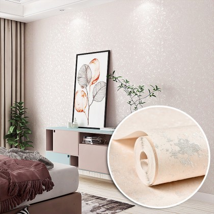 3D Modern Simple Style Plain Pink Color Background Interior Fashion Design Home Decoration Non Adhesive Wallpaper