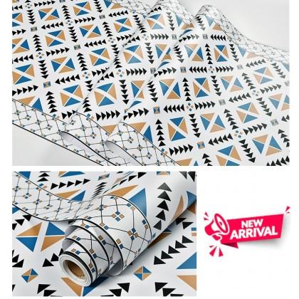 Indonesia Color Brick 75cm*2m Pattern Wallpaper Sticker Wallsticker Covering Contact Paper PVC Waterproof (Siap Gam)