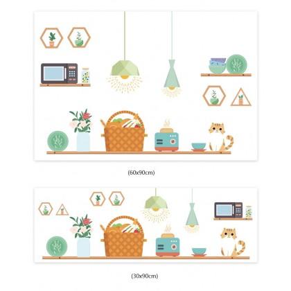(Tiles Sticker) kitchen tiles cartoon background wall art decoration self-adhesive sticker