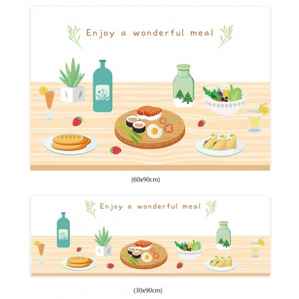 (Tiles Sticker) delicious meal food design kitchen tiles background wall art decoration pvc self-adhesive sticker